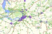 Карта покрытия Мегафон 3G и 4G в Самаре