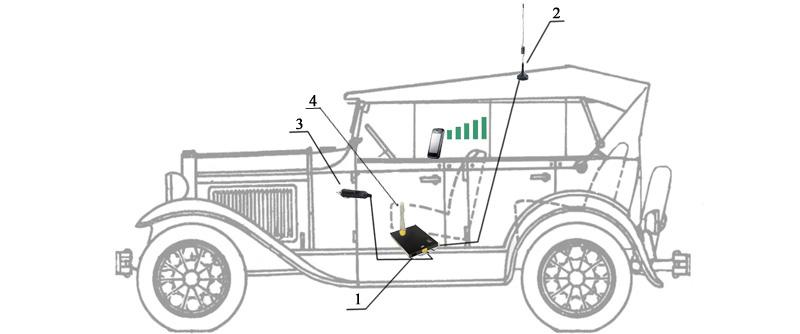 Схема подключения ReCom Avto-900