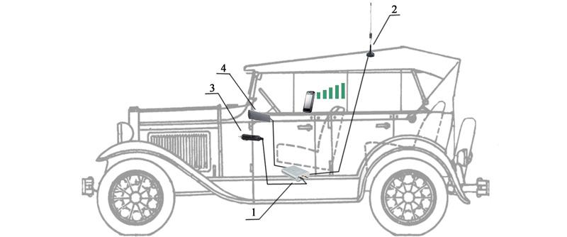 Схема подключения Vegatel AV1-900e-3g kit