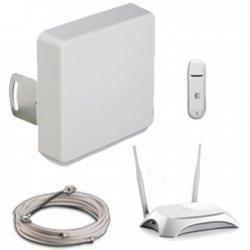3G/4G комплект с модемом</br> и  Wi-Fi —  12-15 дБ