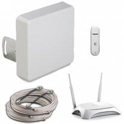 3G/4G комплект с модемом</br> и Wi-Fi —  12-14,5 (MIMO) дБ